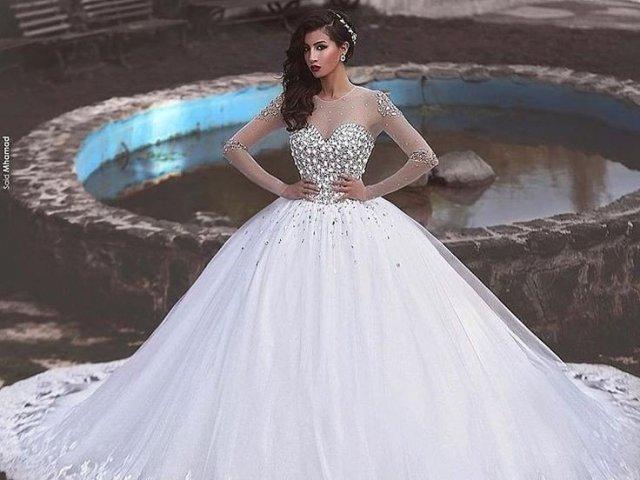 591ca392971028.58954784GF2-Princess-Pearls-Robe-de-mariage-Long-Sleeve-Vestido-de-noiva-Luxury-Puffy-Ball-Gown-Wedding