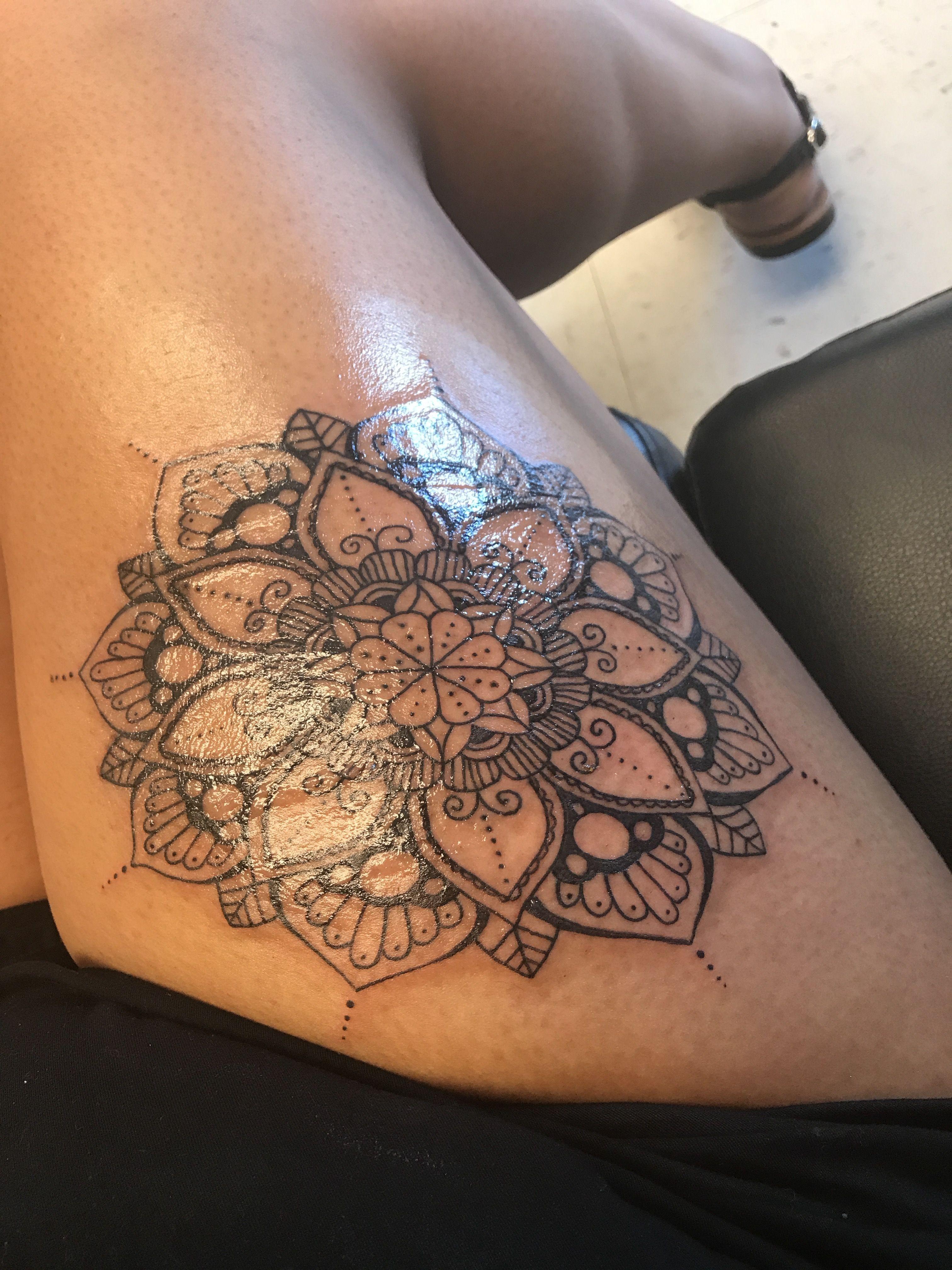Sleeve Tattoo Design Vrouw Magnificent Mandala Thigh Tattoo