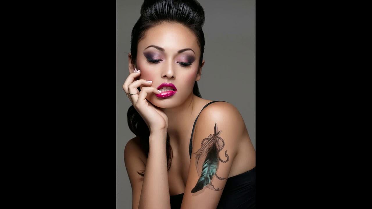 Tatuagem Feminina Braco Pena